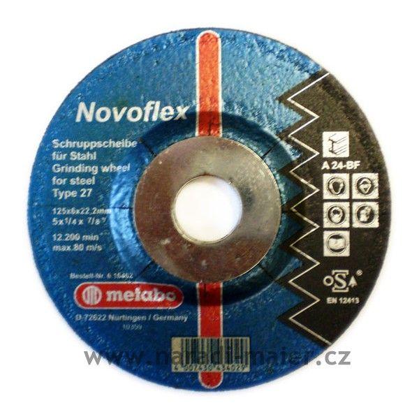Brusný kotouč 125x6x22mm Novoflex ocel