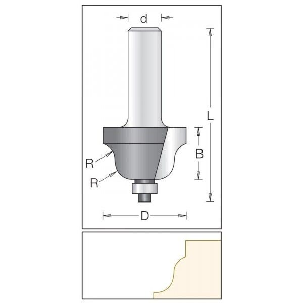 Dimar profilová fréza 25,4 mm