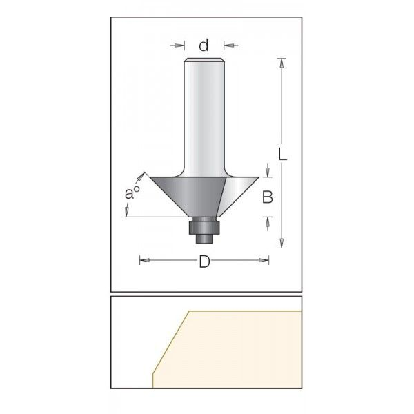 Dimar šikmá fréza 31,8 mm