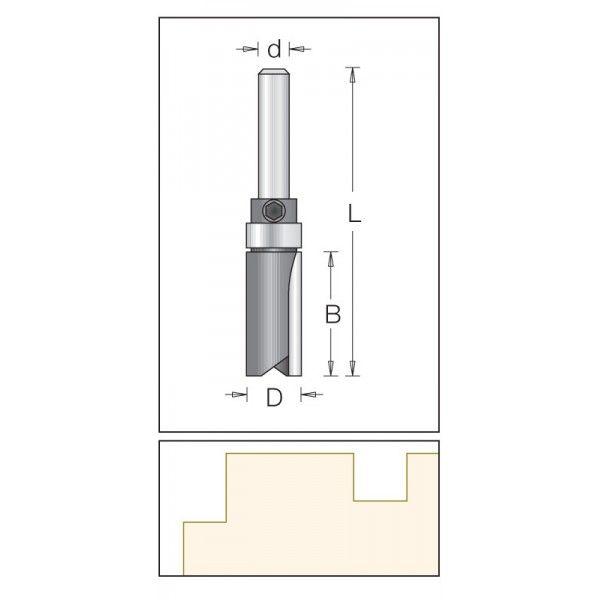 Dimar válcová fréza 19,1 mm s ložiskem