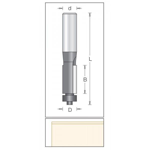 Dimar zarovnávací fréza 12,7 mm