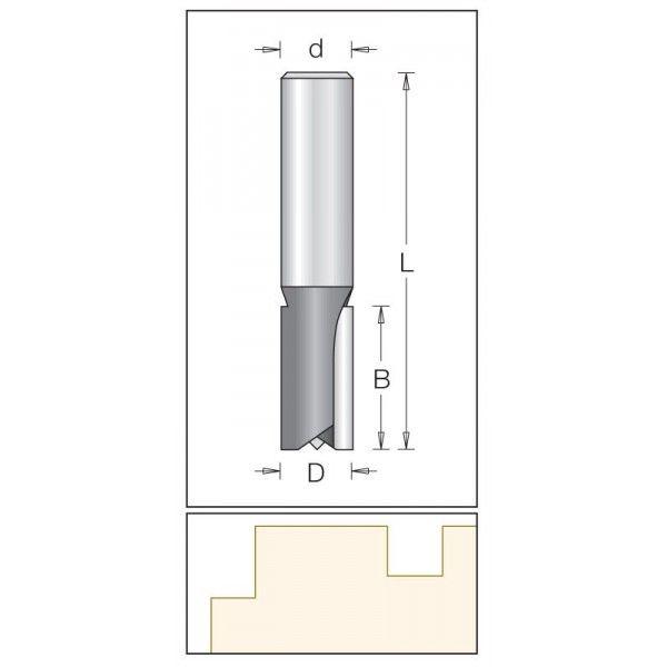 Dimar válcová fréza 12 mm drážkovací