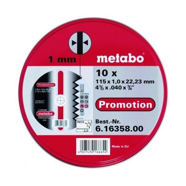 Metabo sada řezných kotoučů 115x1mm