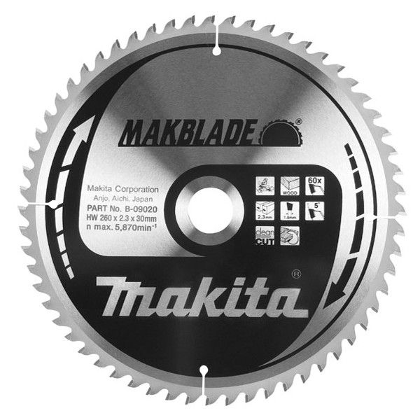 Makita B-09008 pilový kotouč 250mm 60z