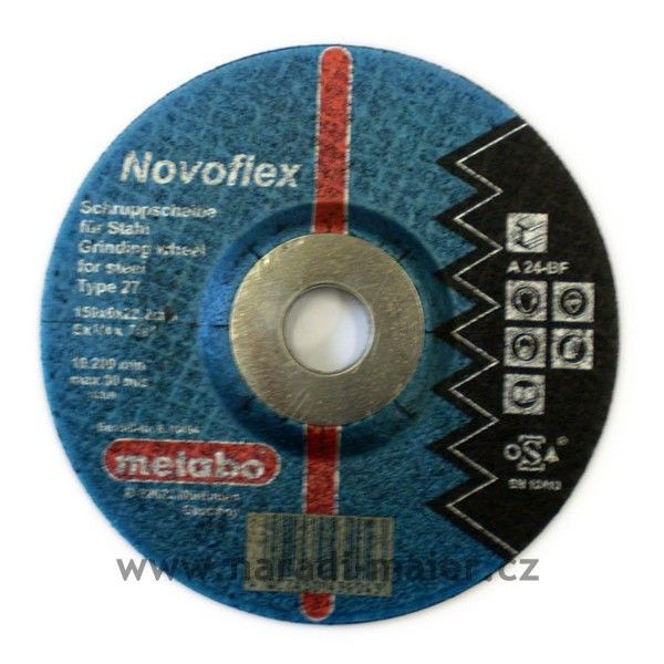 Brusný kotouč 150x6x22mm Novoflex ocel METABO