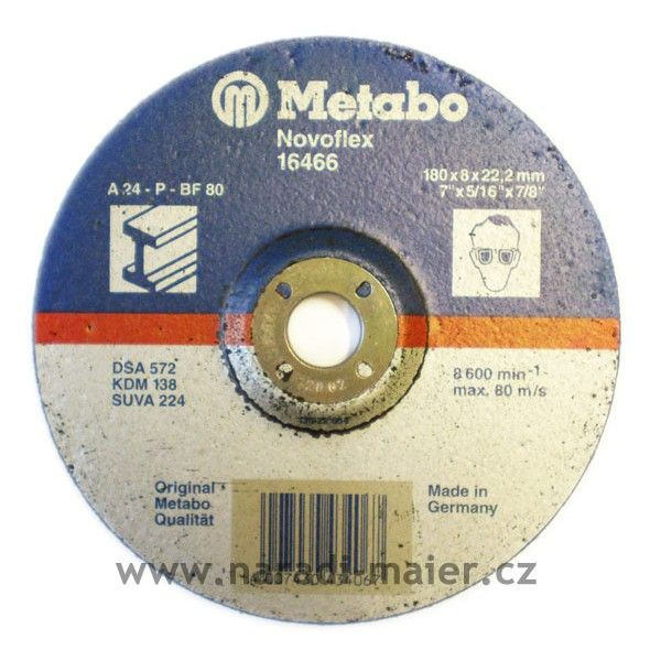 Metabo 16466 180x8,0x22 Novoflex ocel