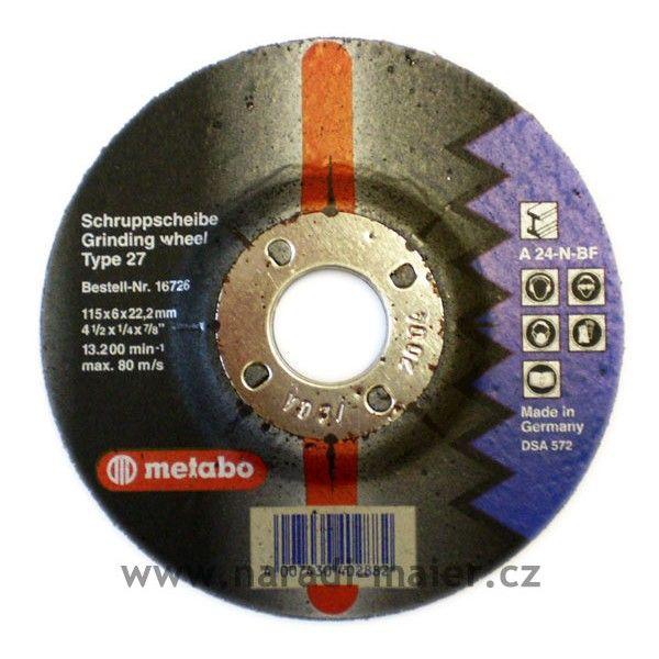 Metabo 16726 115x6,0x22 Flexiamant ocel