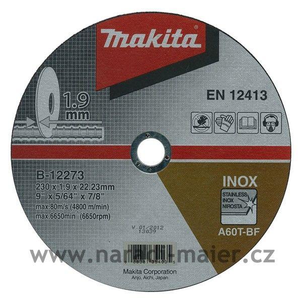 Makita B-12273 230x1,9x22 řezný kotouč