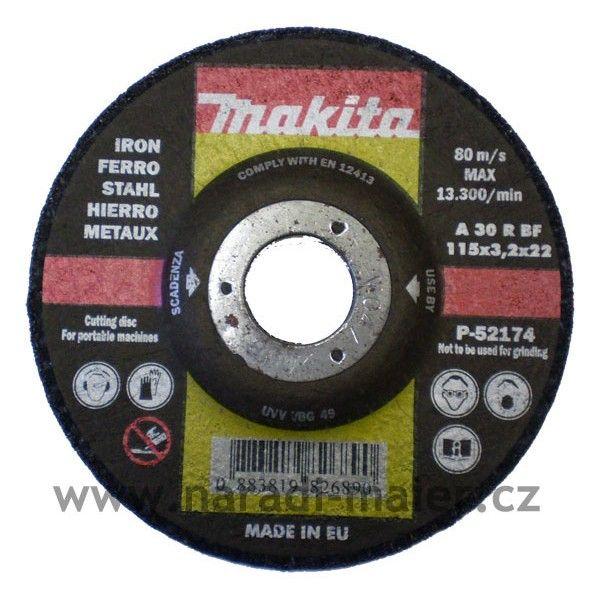 Makita 115x3,2x22 řezný kotouč na železo