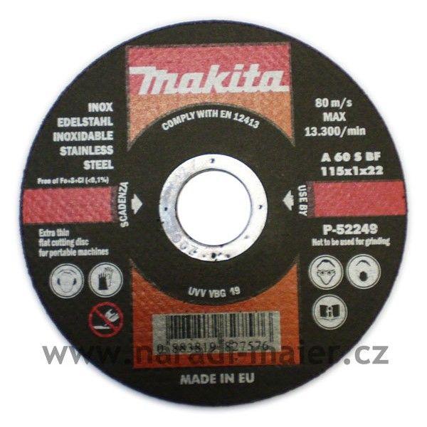 Makita 115x1,0x22 řezný kotouč na nerez