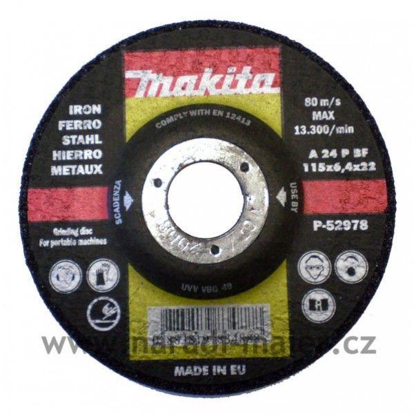 Makita 115x6,4x22 brusný kotouč železo