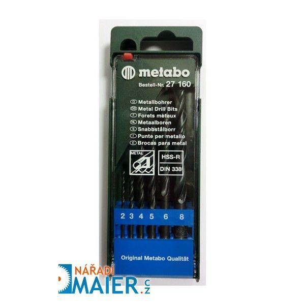 Metabo 27160 sada vrtáků HSS-R 6-dílná