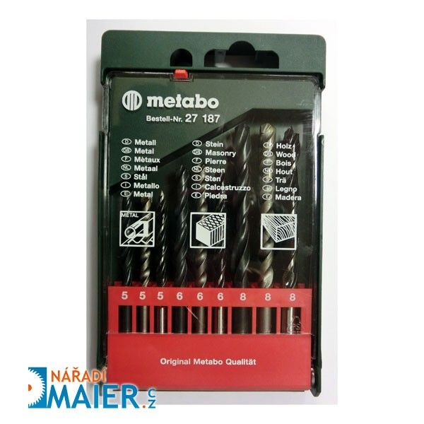 Metabo 27187 sada vrtáků 9-dílná