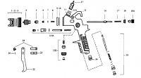 Stříkací pistole Komma-EST DL 30 rozkres