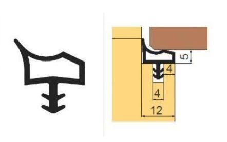 Těsnění L 3302 do obložkových zárubní