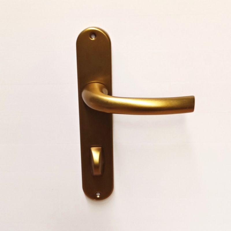 Dveřní kování Sabrina F4 bronz klika/klika WC 90mm