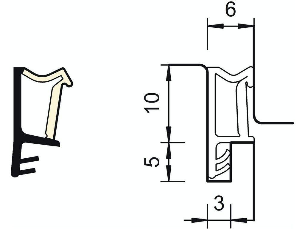DEVENTER nalehávkové těsnění SP103 béžové
