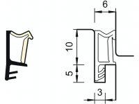 DEVENTER nalehávkové těsnění SP103 šedé 10mm
