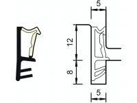 DEVENTER okenní těsnění SP6850 bílé 12mm