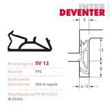 DEVENTER SV12 šedé 12mm těsnění