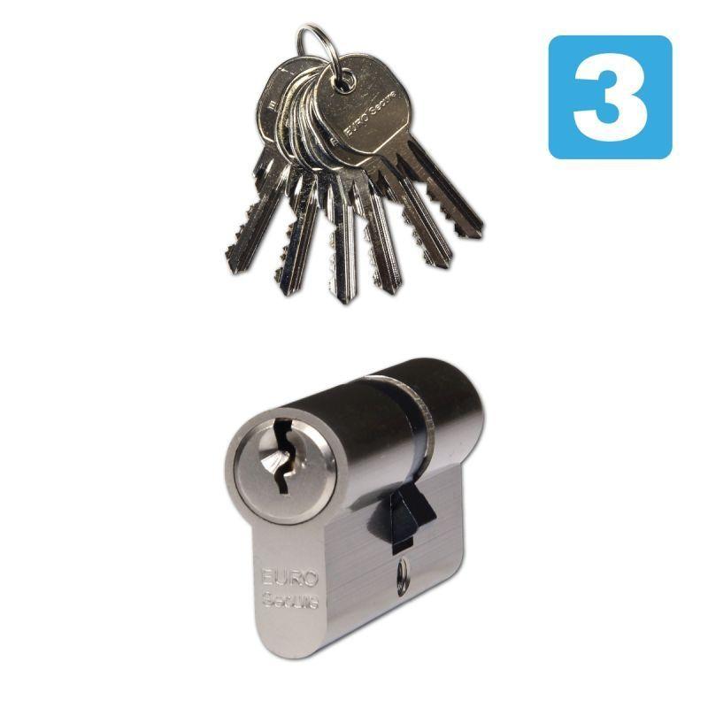 EURO Secure zámková vložka 35/35 nikl 6x klíč