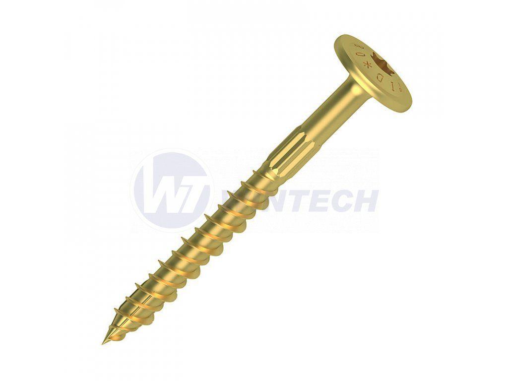 GPR vruty 6,0x180 T30 závit 64 žlutý zinek