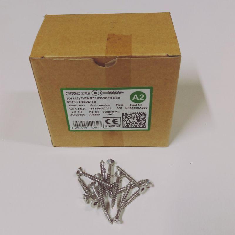 Nerezové vruty do dřeva 4,5x50/30 TX