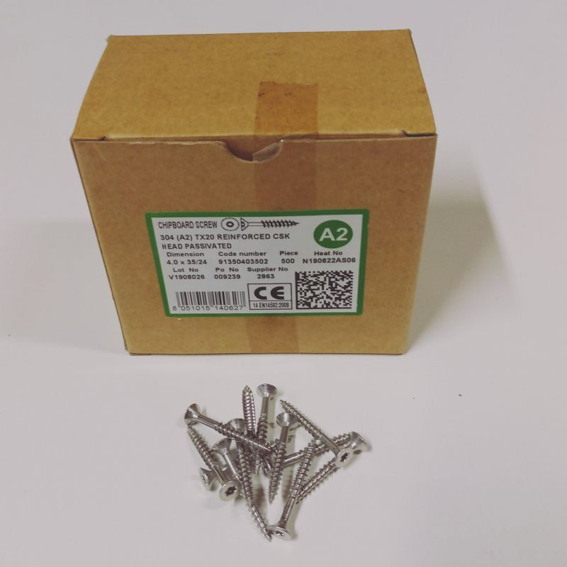 Nerezové vruty do dřeva 5,0x70/40 TX